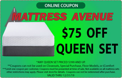 $75 Off Queen Mattress Set